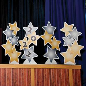 Kid's Gold & Silver Stars Stage Prop Set