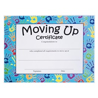 Moving Up Certificate - Handprints