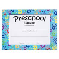 Preschool Diploma - Handprints