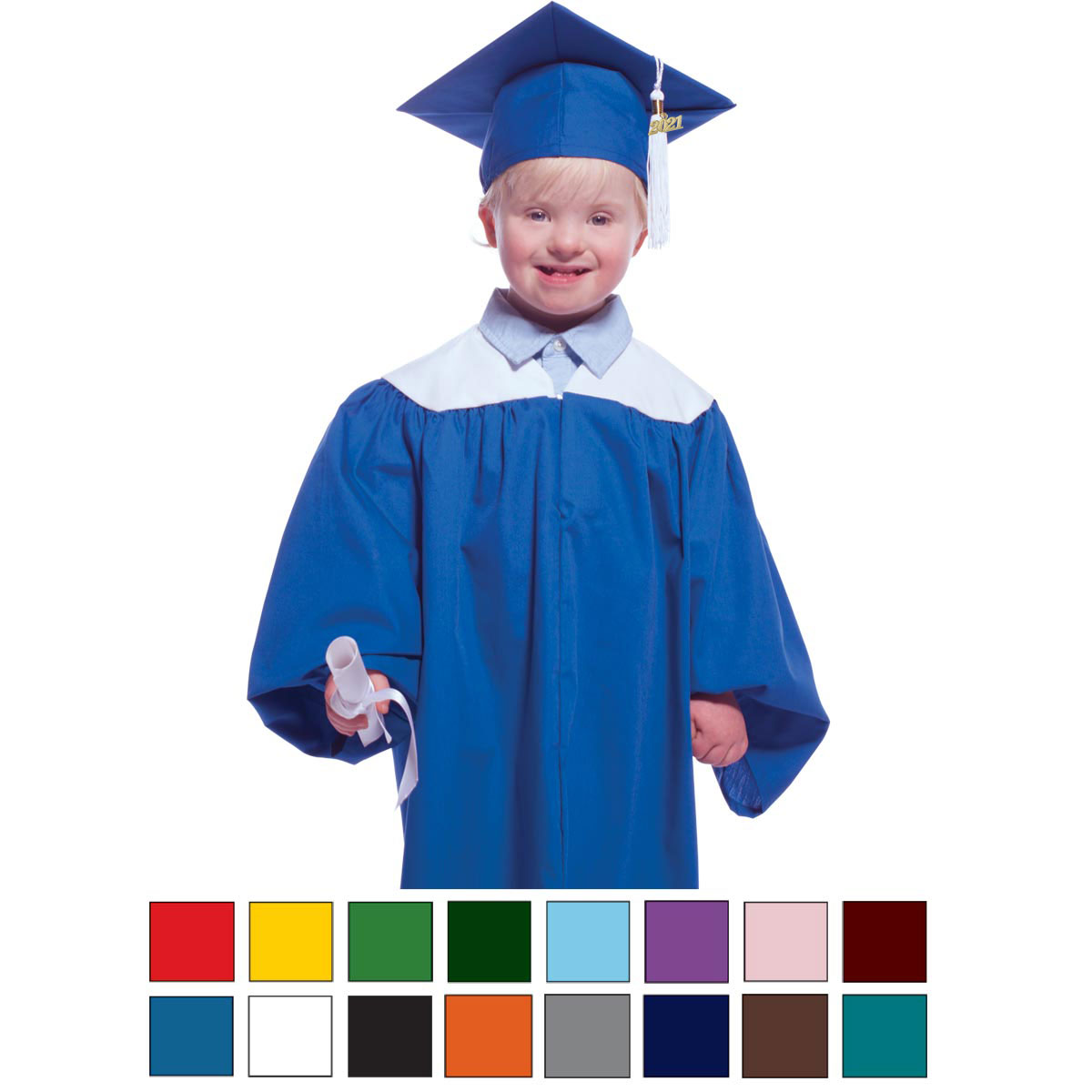 Two-color Graduation Gown | Rhyme University\'s