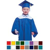 Two-color Graduation Gown