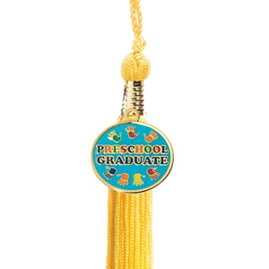 Tassel with Handprint Preschool Graduate Charm
