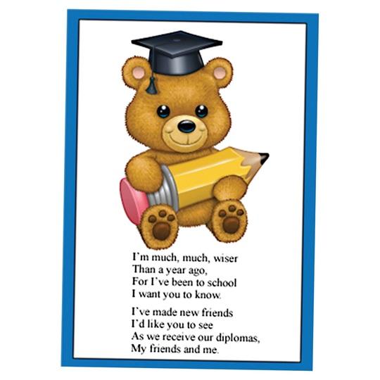 Kid S Graduation Invites Teddy Bear Rhyme University S
