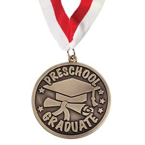 Preschool Graduate Sculpted Brass Medallion