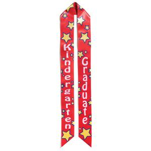 Kindergarten Graduation Sash - Red and Yellow Stars