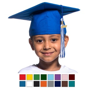 Children's Matte Cap and Tassel Set for Graduation
