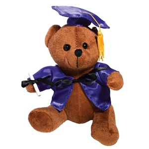 Graduation Teddy Bear - Purple